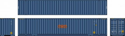 48D09 Southern Rail: 48ft AUSTRALIAN DOMESTIC CONTAINERS 2 CONTAINER SET