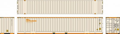 48D02 Southern Rail: 48ft. RAIL CONTAINERS (SCF) SET OF 2 CONTAINERS - AUSTRALIAN DOMESTIC CONTAINERS.