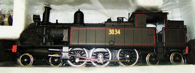3034 - Austrains: NSWGR C30 Tank locomotive with headlight #3034: with solid steel bunker.--