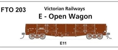 Phoenix : #203 Victorian Railways E-OPEN WAGON E 11