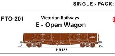 Phoenix: #201 Victorian Railways E-OPEN WAGON HR 137