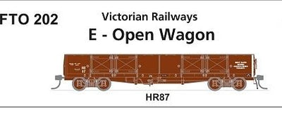 Phoenix : #202 Victorian Railways E-OPEN WAGON HR 87