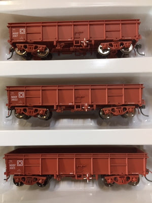 Eureka Models: NOEF BOGIE OPEN WAGON NSWR WAGON RED 3 in pack  #PACK F.