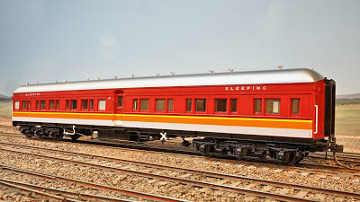 15. TAM 710 CANDY Eureka Models :  SLEEPING CAR with SILVER ROOF NSWGR 12 Wheel Passenger 72.6 Car Series .