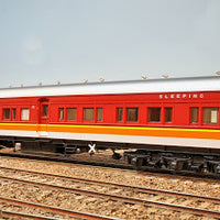 14. NEW: TAM 701 Eureka Models :  SLEEPING CAR CANDY with SILVER ROOF NSWGR 12 Wheel Passenger 72.6 Car Series .