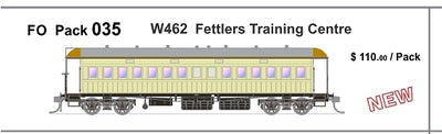 FO 035 AUSTRAINS NEO : End Platform Car - W462 -  Fettlers Training Centre Single Cars (new Re-Run)