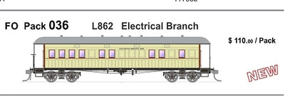 FO 036 AUSTRAINS NEO : End Platform Car - L862 - Electrical Branch Single Cars (new Re-Run)