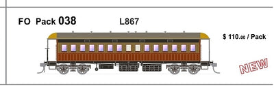 FO 038 AUSTRAINS NEO : End Platform Car - L867 - Red & Russet Single Cars (new Re-Run)