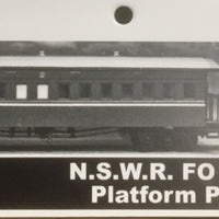 "CAMCO ""FO"" 2nd Class Open End Passenger Car Kit of the N.S.W.G.R. HO scale"