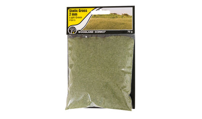 Woodland Scenics: FS615 STATIC GRASS -2MM LIGHT GREEN