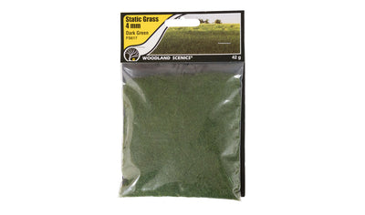 Woodland Scenics: FS617 STATIC GRASS -4MM DARK  GREEN