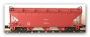 NPLF Cement Hopper NSWGR Red, 1982 onwards. GOPHER N Scale Model