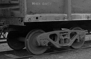 """WHEN EMPTY"" Ozzy Decals: for NSW OPEN WAGONS. The sheet with 12 the words ""WHEN EMPTY"" will do 6 wagons."