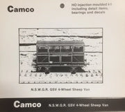 CAMCO GSV 4 Wheel Sheep Van kit of the N.S.W.G.R. HO scale