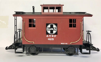 G Scale  Santa Fe ATSF 425 Bobber Caboose LGB type couplers, #G5.