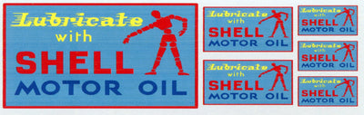 GVS 005 Lubricate with Shell Motor Oil Gwydir Ozzy Decals:  - 3 Sizes to suit all scales.  Heritage Billboard Decals