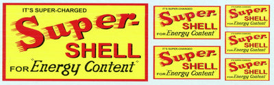 GVS 007 Super Shell for Energy: Gwydir Ozzy Decals:  Content- 3 Sizes to suit all scales.  Heritage Billboard Decals