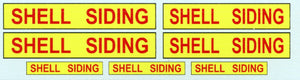 GVS 008.1: Shell Siding Sign: Gwydir Ozzy Decals:  Content- 3 Sizes to suit all scales.  Heritage Billboard Decals