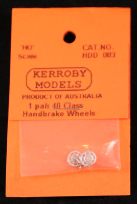 Kerroby Models - HDD 003 -  1 Pair of 40 Class Handbrake Wheels