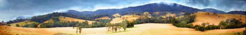 Haskell - (HLHCA)  Hill Country. Size: 45x240cm. Backdrop 1.