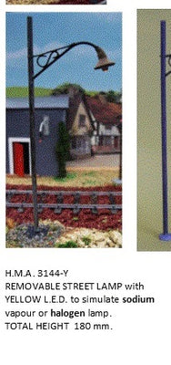 HMA 3144-Y O SCALE STREET LIGHT AND BASE FOR RAILWAY O SCALE LAYOUTS