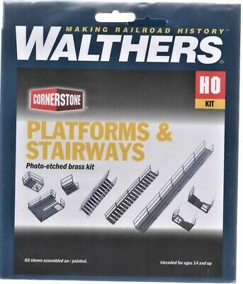 WALTHERS: PLATFORM & STAIRWAYS KITS #933-2939 ETCHED BRASS KIT HO