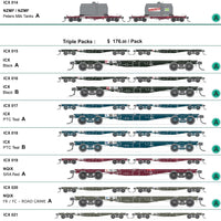 ICX 029 NQIX SDS Models: NSWGR: Pacific National Wagon Triple Pack without containers Pack D.