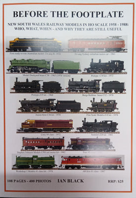 Before the Footplate Magazine (NSW Railway Models in Ho Scale 1958-1988) NEW RELEASE