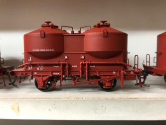 Austrains: V.R.  J cement Hopper Single hopper Wagon J 57 Wagon Red $55.00 AT DISCOUNT PRICE $45.00
