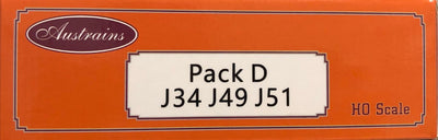 J Pack D: V.R. J Cement Hopper: 3 PACK SET RRP $165 Now $99.00: Austrains:
