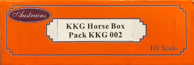 KKG002 RRP $165.00 Austrains Twin Pack NSWGR KKG HORSEBOX VANS new models SALE PRICE $99.00
