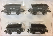 LCH #3 Eureka Models LCH All-steel Coal Hopper NSWGR Grey Nos 12524, 12537, 12609, 126424-pack