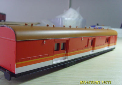 LHO: Casula Hobbies: RTR LH0 1623 Candy with navy Roof passenger brake van. $70 Save $10, $60ea.