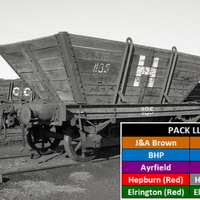 LL14 Southern Rail: MIXED PACK |10 WAGON SET SRM & HUNTER VALLEY PRIVATE OWNER 4 WHEEL 'LL' STEEL FRAME COAL HOPPERS HO.