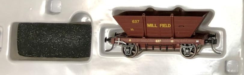 LL637 MILLFIELD Private Owner COAL HOPPER 4 Wheel Single hopper, SOUTHERN RAIL MODELS HO.
