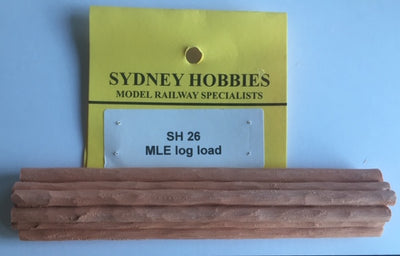 LOG LOAD #SH26 for MLE/E  FLAT WAGONS suits AR KITS & others  (1)  NSWGR