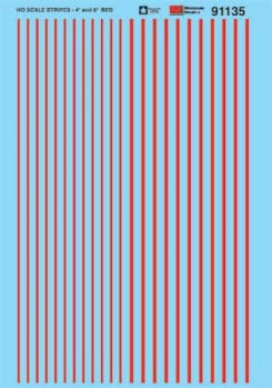 MICROSCALE 91135. pin Striping Red Striping - 4