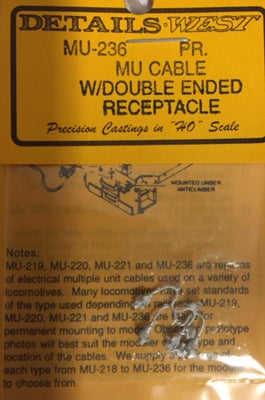 DETAILS WEST HO: MU CABLE #MU236, with DOUBLE ENDED RECEPTACLE. (2)