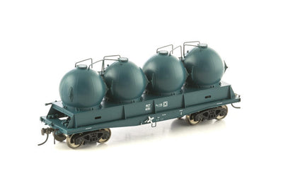Auscision Models: PCT Cement Hopper NSWGR PTC Blue FISHBELLY UNDERFRAME WAGON,- 4 Car Pk NCH-38--AM11277