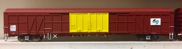 R.T.R. NLDF 23173 X Newsprint Van, SRA Indian Red  & Yellow with L7 Logo from AUSCISION Model HO.