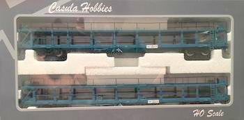CAR CARRIER: Casula Hobbies: PK5 NMNY Car Carriers 2 car pack with 2 Car Carriers  PTC Blue Set. $150pk Save $15, $135 a Pk.