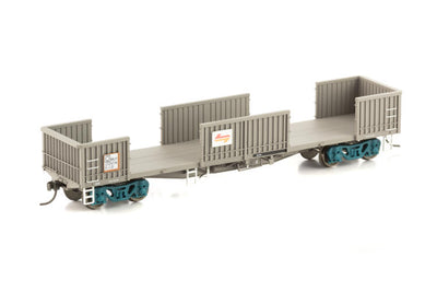 NOW-8 Auscision :  RKJY Open Wagon with DOORS WAGON GRIME - 4 Car Pack