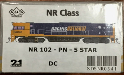 NR102 SDS NEW TOOLING BODY OF NR Class NR102 PACIFIC NATIONAL 5 STAR DC POWERED. RRP $295.00ea