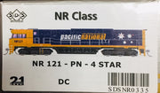 NR121 SDS NEW TOOLING BODY OF NR Class  NR 121 PACIFIC NATIONAL 4 STAR DC POWERED. RRP $295.00ea