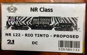 NR SDS NEW TOOLING BODY OF NR Class NR 122 RIO TINTO - PROPOSED DC POWERED (CORRECT HO SCALE MODEL). RRP $295.00 ea.