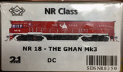 NR18 SDS NEW TOOLING BODY OF NR Class  NR18 THE GHAN Mk3 DC POWERED