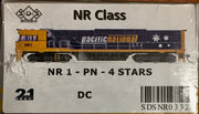 NR SDS NEW TOOLING BODY OF NR Class  NR 1 PACIFIC NATIONAL 4 STAR DC POWERED. RRP $295.00 ea