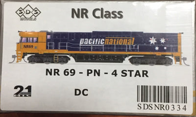 NR SDS NEW TOOLING BODY OF NR Class  NR 69 PACIFIC NATIONAL 4 STAR DC POWERED. RRP $295.00 ea