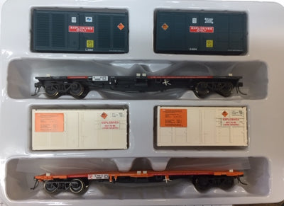 ICX 003 NSPF SDS Models : WAGONS ORANGE / RG W/ EXPLOSIVES CONTAINERS Pk ICX 003 Twin Pack B,