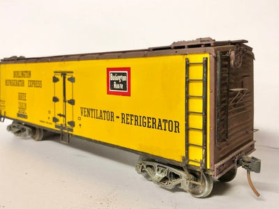O SCALE ATLAS USA CATTLE FREIGHT WAGON #O-115 SECOND HAND MODEL.